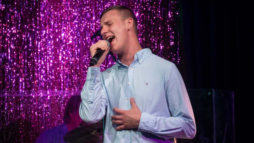 Alex Kron från Halmstad, vinnare i Funkisfestivalen 2020 (foto: Simon Mogren)