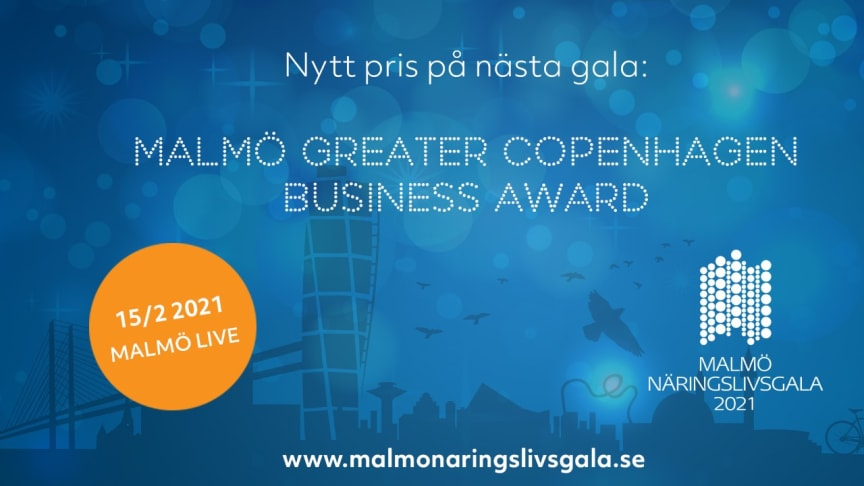 Nytt Öresundspris ska delas ut på Malmö Näringslivsgala
