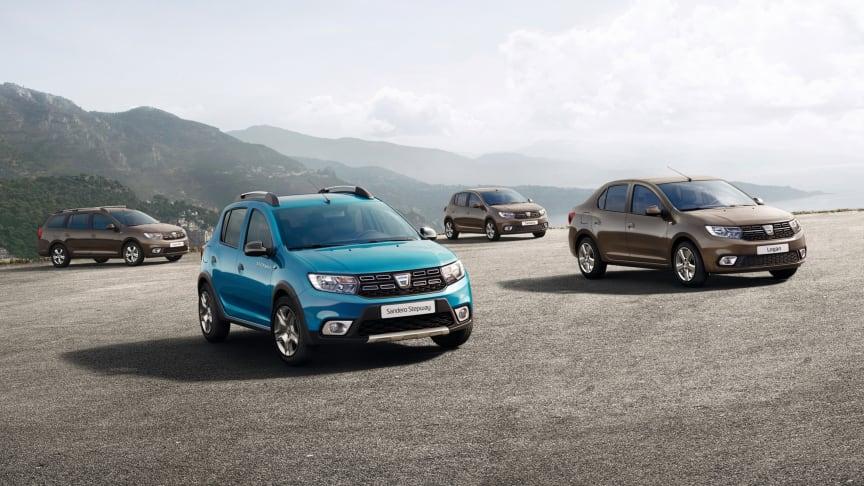 Dacia Sandero, Sandero Stepway, Logan og Logan MVC, har fået en overhaling af de større.