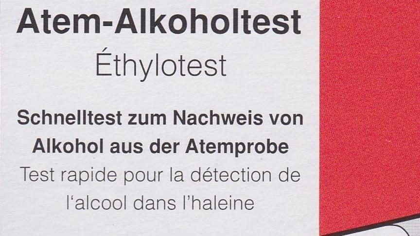 """""""Atem-Alkoholtest täuscht Sicherheit vor"""""""