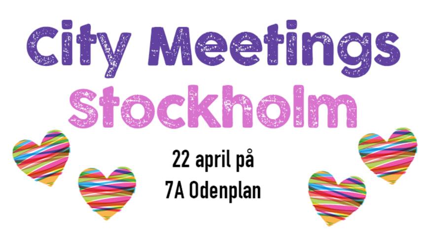 Välkommen till City Meetings fredagen den 22 april