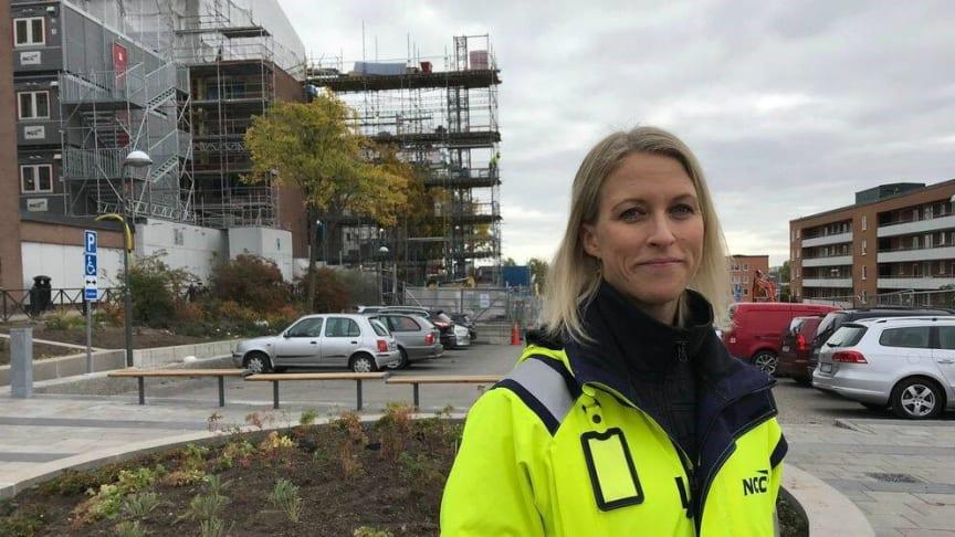 Jennie Fridolin, hållbarhetsexpert på NCC. Foto: Michelle Derblom Jobe/SVT
