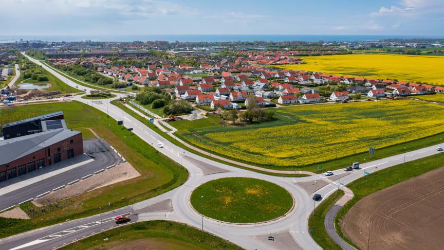 Västervång utgör en del av den norra entrén till Trelleborg.