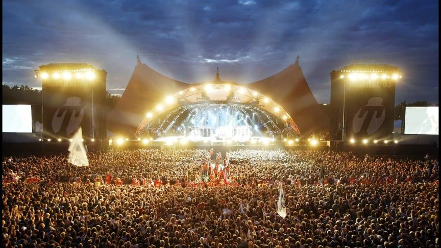 Publikum er hovednavnet i RAGNAROCKs nye særudstilling 'Smattens Magi - 50 års aftryk af Roskilde Festival'. Foto: Roskilde Festival