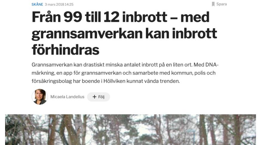 CoYards bidrar till att minska inbrotten i Höllviken
