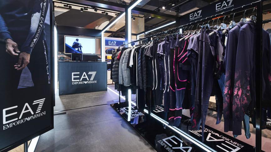 Der Pop Up Space von EA7 im SportScheck-Store in der Neuhauser Straße.