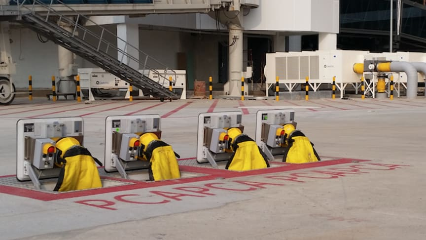Cavotec's in-ground systems reduce tarmac clutter.