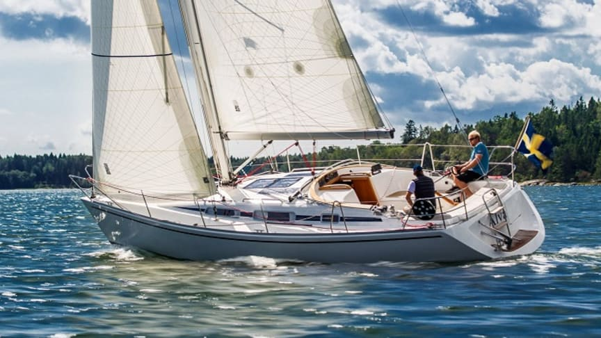 Linjett 34 är en av många svensktillverkade segelbåtar på Allt för sjön 2020.