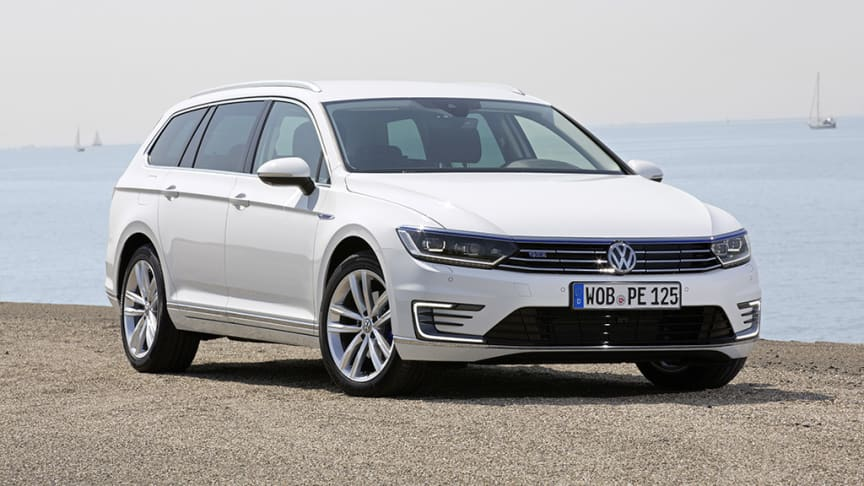 Volkswagen oplever markant vækst, bl.a. med firmafavoritten Passat - her i hybridudgaven Passat GTE