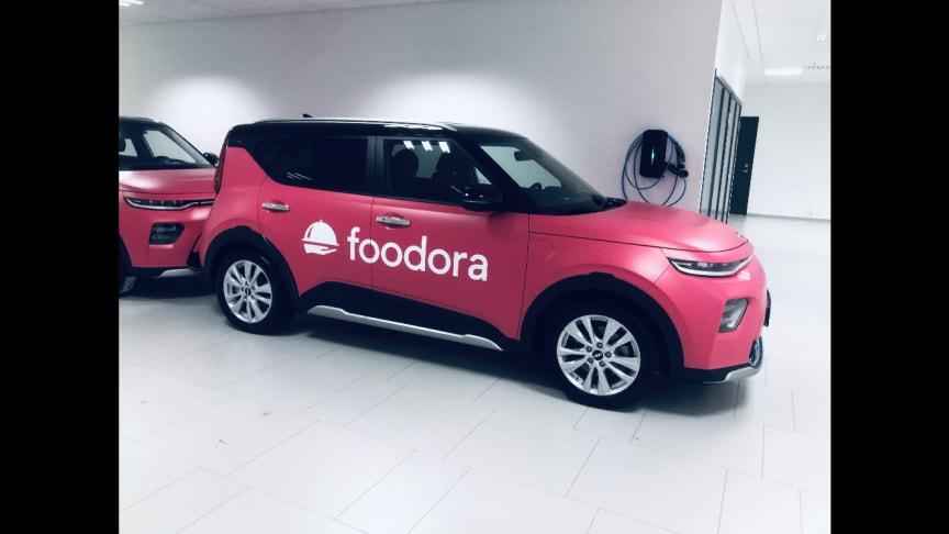 foodora växer med 100 nya elbilar - ett strategiskt steg i elektrifieringsplanen