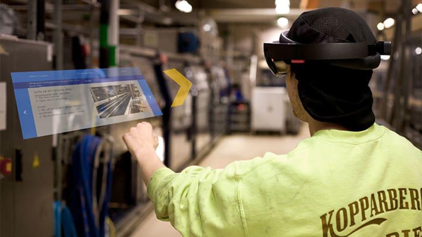 Utbildning genom AR testas vid Kopparbergs Bryggeri. Foto: Kopparbergs Bryggeri.