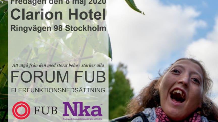 Forum FUB anordnas den 8 maj 2020.