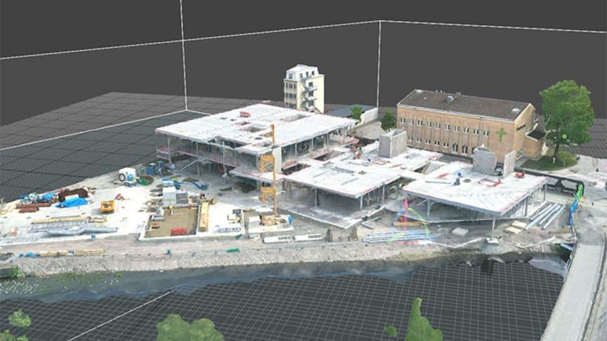 Här växer det nya Kulturkvarteret fram i en digital 3D-modell. Foto: Örebro universitet.