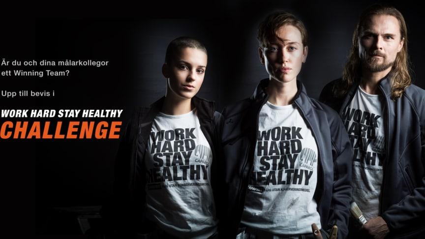 Caparol utmanar Sveriges alla målare i action-tävlingen Work Hard Stay Healthy Challenge!