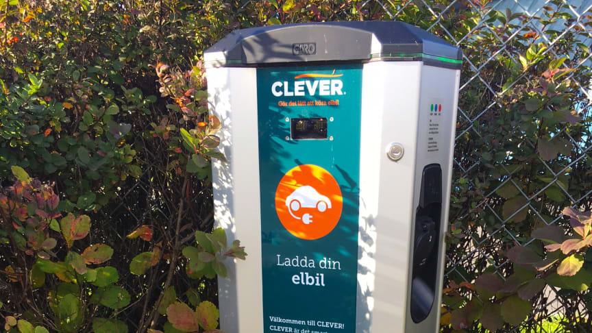 CLEVER laddstation på Kalmar Öland Airport