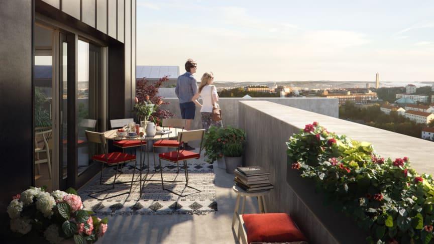 Riksbyggen och Göteborg Energi testar ny teknik för solel i Brf Viva
