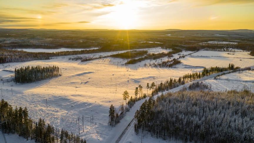 Vy över Svartbyn i Bodens kommun. Foto Mats Engfors/Fotographic