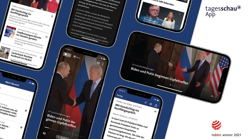 Red Dot Award 2021: Appsfactory erhält Auszeichnung für hohe Designqualität der tagesschau-App