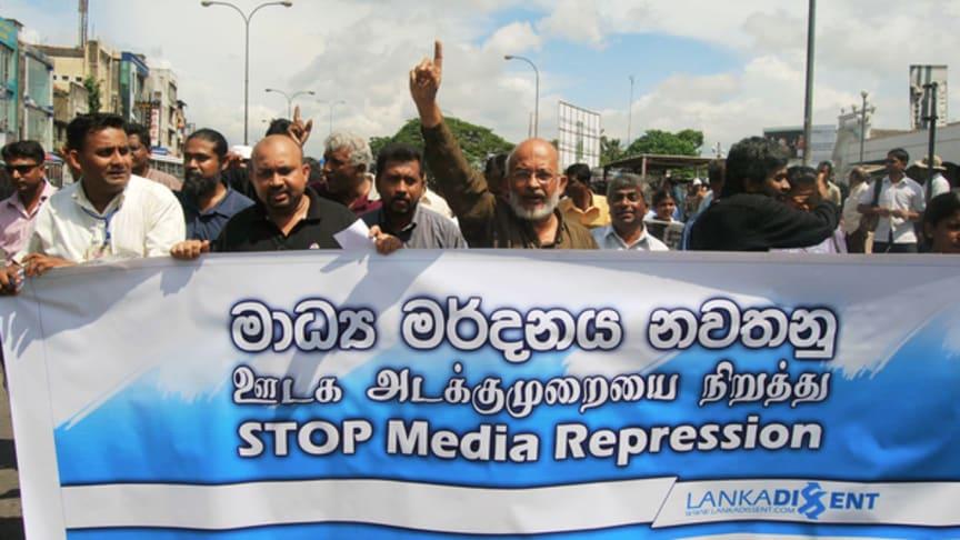 Sri Lanka: Kritik mot regeringen stoppas med våld