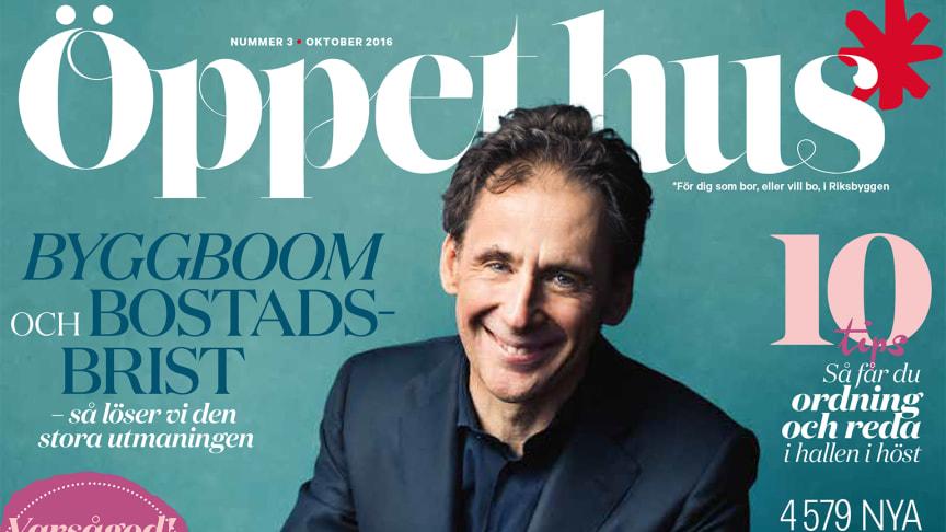 Premiär för nya Öppet hus - en fullmatad tidning om allt som rör boendet