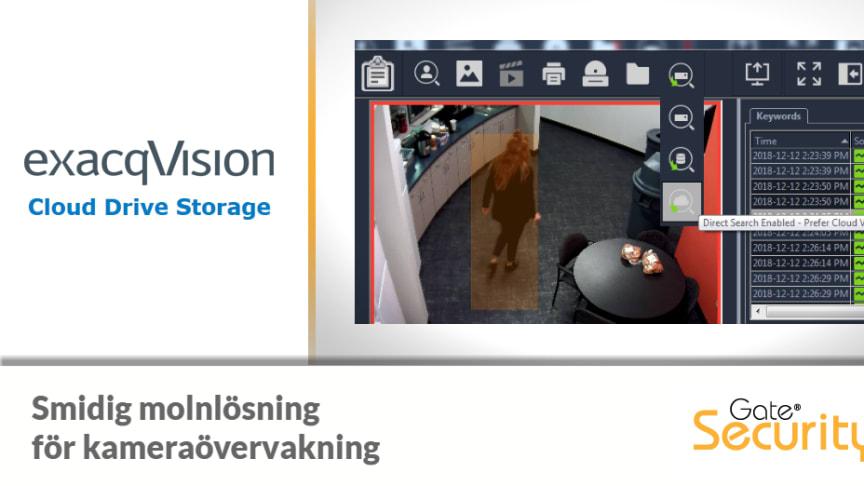 exacqVision Cloud Drive - Molnlösning för kameraövervakning