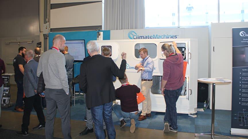 ClimateMachines™ Unit 500 i montern under Nordbygg