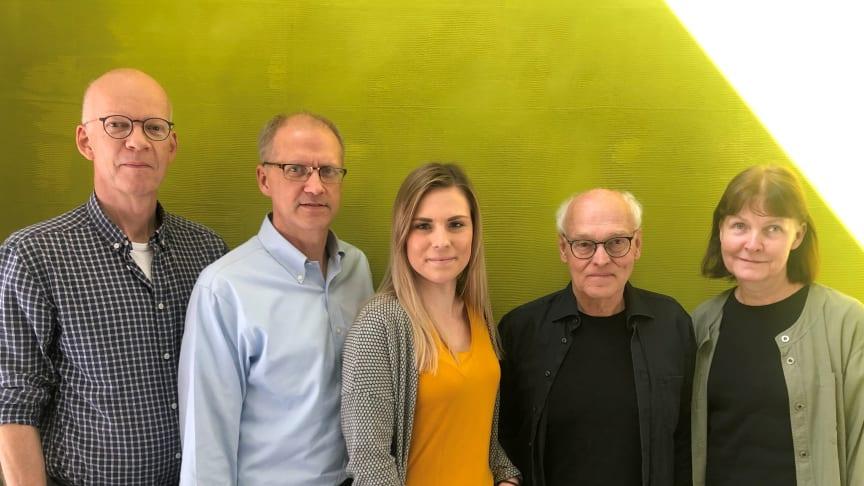 Tomas Lindh, Patric Stafshede, Isabelle Lilja, Tor Ny och Malgorzata Wilcynska.