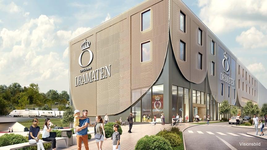 Visionsbild av Kungliga Operan och Kungliga Dramatiska Teaterns nya produktionscenter