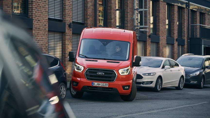 Slip for parkeringsstress i Fords nye varebiler