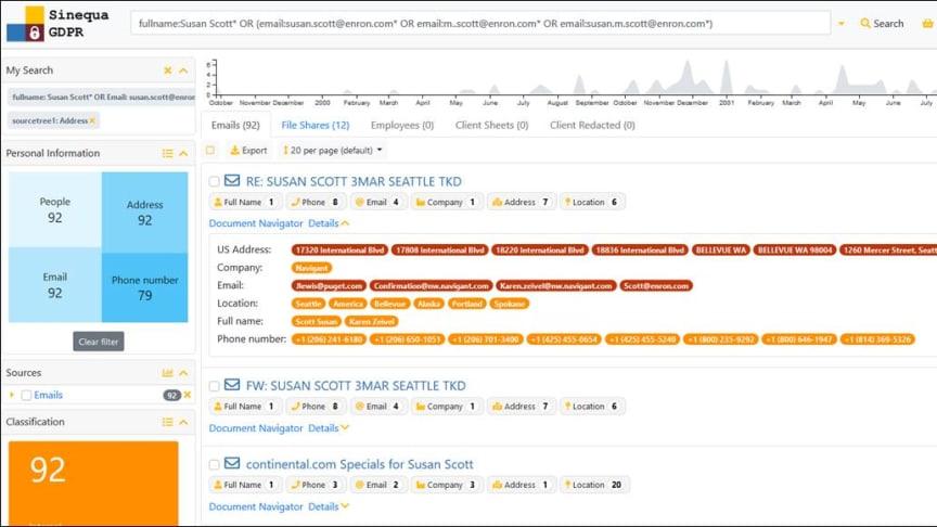 Darstellung von Suchergebnissen im neuen Sinequa Release 11.2