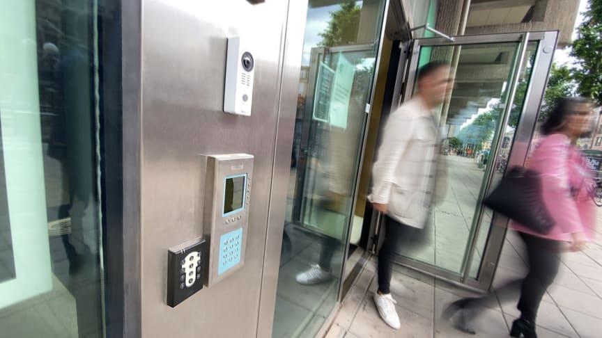 Aptus passerkontroll via app hos Castellum Östra Hamngatan Göteborg