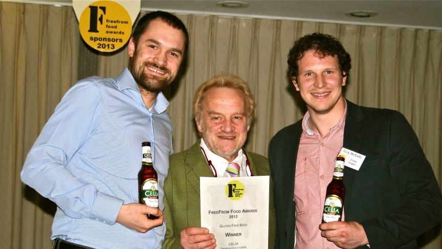 CELIA wins FreeFrom Food Awards as 'Best Gluten Free Beer'