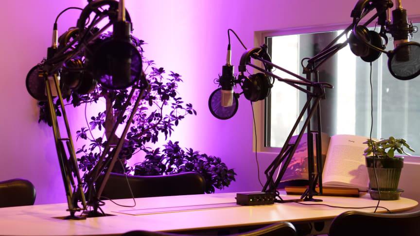 Nya podcast-studion - The Studio - på Clarion Hotel Sign.