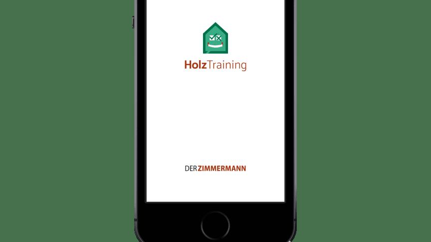 """Die theoretische Zimmerer-Prüfung steht vor der Tür? Mit der neuen App """"HolzTraining"""" können Auszubildende und Meisterschüler ihr Wissen zum Holzbau aufbauen und prüfen."""