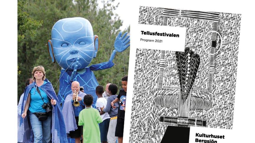 Lördag 11 september fylls Rymdtorget av musik, dans och kultur i alla former på Tellusfestivalen. Foto: Emmelie Falk, konstnär för festivalprogrammet: Haky Albustan