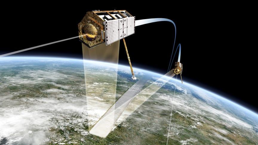 Data fra Airbus sin TerraSAR-X satellitt benyttes til å overvåke eventuelle setninger i grunnen på grunn av utbygging av E18 mellom Lysaker og Ramstadsletta.