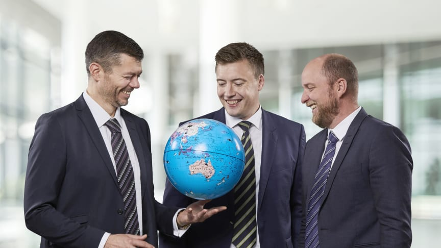 The Blue World Technologies founders team. From Left: Mads Bang - CTO, Mads Friis Jensen - CCO, Anders Korsgaard - CEO