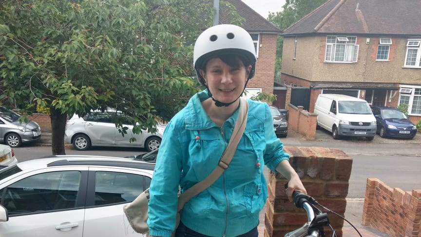New-life cycle for a life saver: Katherine Shircore, a key worker at Luton & Dunstable University Hospital, with her restored bike that had been abandoned at a Thameslink station