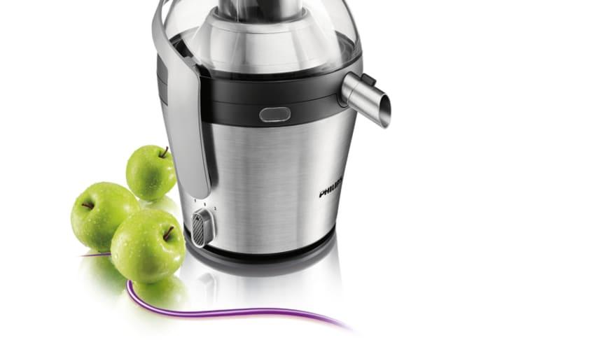 Mere juice og mindre støj med Philips Avance Juicer