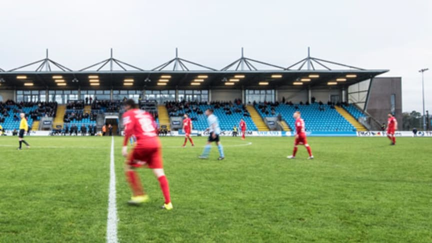 Ballymena Showgrounds, home to Ballymena United Football Club.