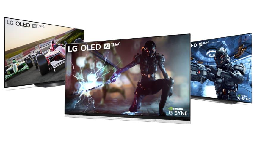 LG påbörjar nu utrullningen av stödet för Nvidia G-Sync för LG OLED-TV