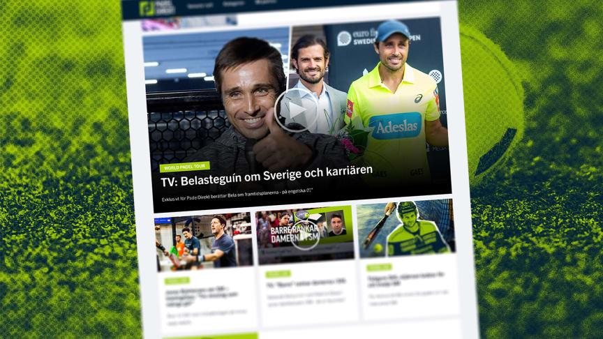 Idag lanseras PadelDirekt.se, en nyhetssajt om padel