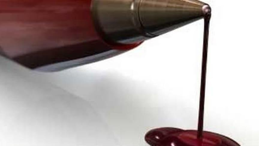 Crimson bleeds red