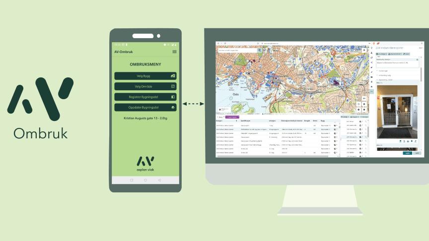 AV Ombruks GIS-baserte database kan kobles opp mot flere forskjellige markedsplasser, etter hvert som disse blir tilgjengelige.