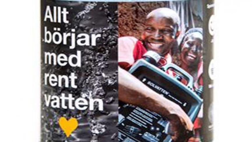 Vattenflaskor till förmån för Solvatten