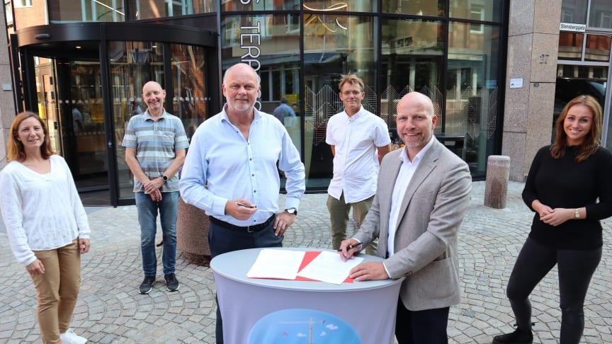 Fra venstre Beate Solem, Per Henning Graff, Bjørn Glenn Hansen, Harald Aase, Gunnar Glavin Nybø og Tuva Mehammer