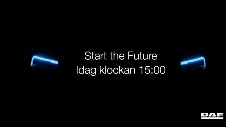 Idag klockan 15:00 introducerar DAF framtiden i ett digitalt event.