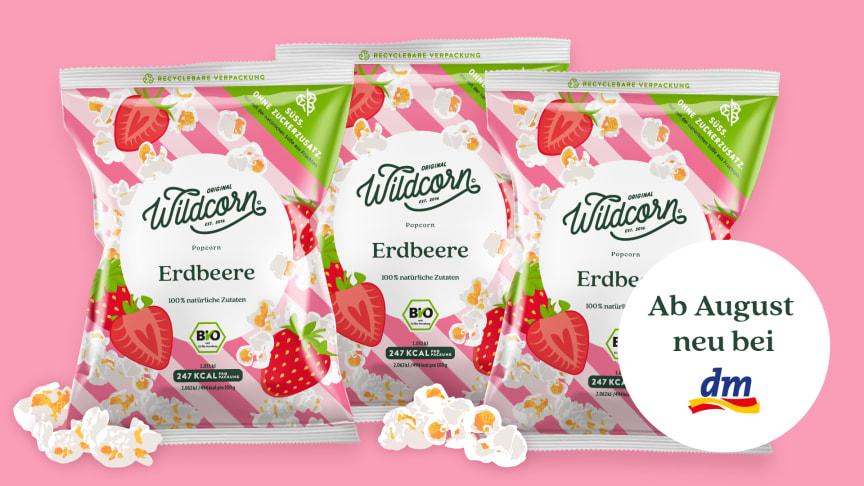 Wildcorn Popcorn Erdbeere ab jetzt in der 50g Tüte.