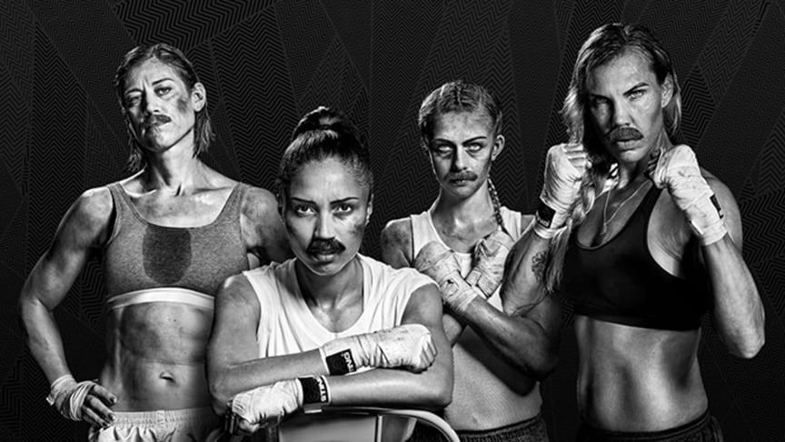 Anna Laurell Nash, Agnes Alexiusson, Love Holgersson och Mikaela Laurén är ambassadörer för Mustaschkampen 2019.