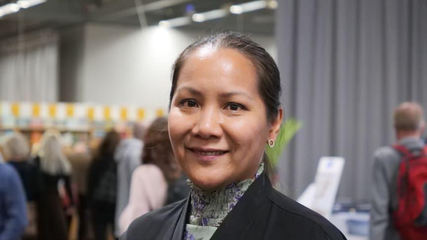 Napat Khiyapat är modersmålslärare i Skellefteå kommun och hon är en av tre finalister till lärarpriset Guldäpplet.